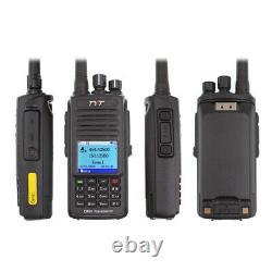 With GPS TYT MD-UV390 DMR Digital Radio IP67 UV Dual band Two Way Radio + USB