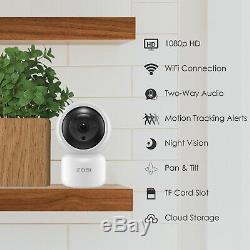ZOSI Wireless WIFI Security IP Camera 1080p HD Onvif Two-Way Audio Baby Monitor