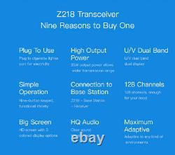 Zastone Z218 Small Mobile Radio 25W VHF UHF Mini Car Walkie Talkie Transceiver