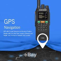 Zastone ZT889G GPS Walkie Talkie Two Way FM Radio 134-174/400-520MHz For Hunting